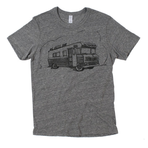 Mas Tacos Por Favor T-Shirt from Nashville, TN (Unisex-Gray) - Shop Andrew Zimmern - Clothing  - 1