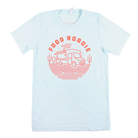 Food Roadie Rambler T-Shirt - Light Blue