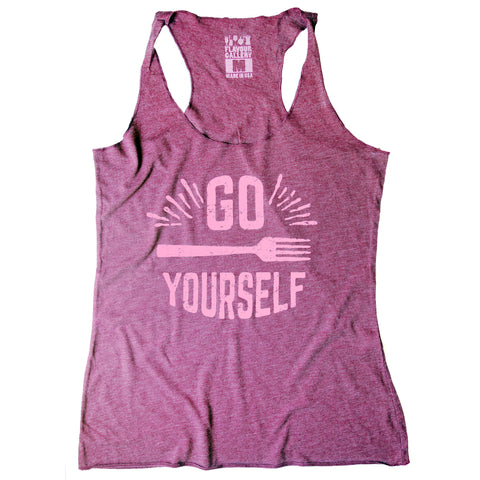 Go Fork Yourself Sports Tank Top - Burgundy
