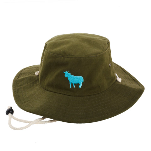 Goat Bucket Hat (Olive) - Shop Andrew Zimmern - Accessories
