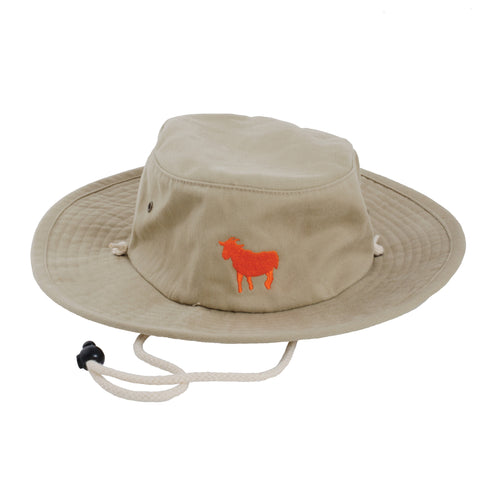 Goat Bucket Hat (Khaki) - Shop Andrew Zimmern - Accessories