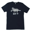 "Navy ""If It Looks Good Eat It"" Goat T-Shirt - Shop Andrew Zimmern - Clothing  - 1"