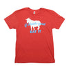 """If It Looks Good Eat It"" Goat T-Shirt - Red - Shop Andrew Zimmern - Clothing  - 1"