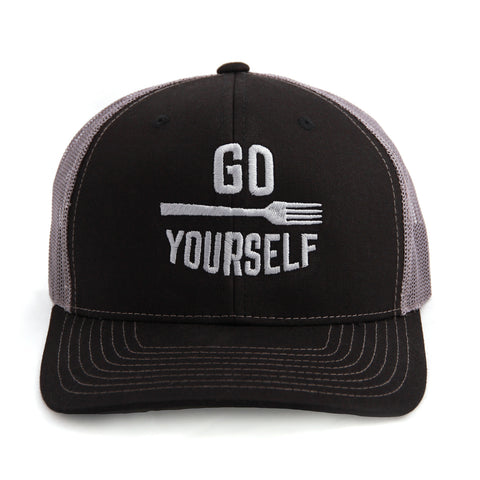 Go Fork Yourself Trucker Hat (Black/Charcoal)