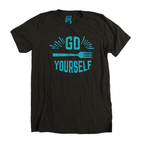 Go Fork Yourself T-Shirt - Black Heather