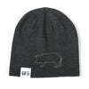 Slouchy Pig Beanie (Charcoal Heather)