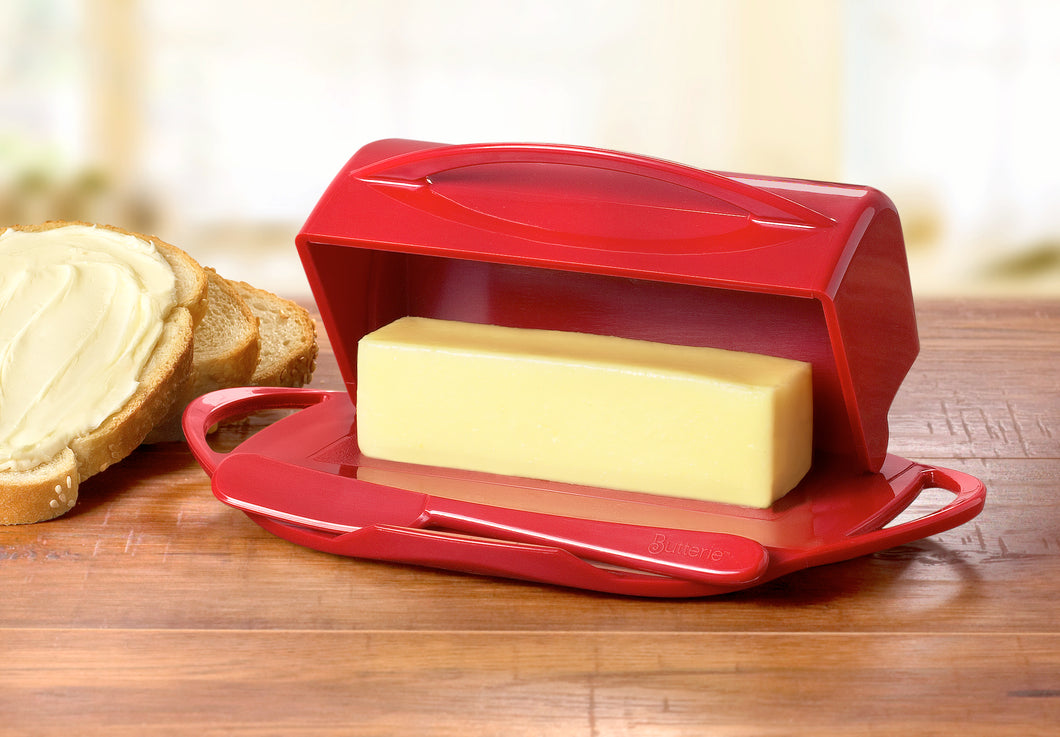 Butterie Flip-Top Butter Dish With Spreader