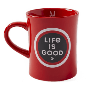 Life Is Good Red Diner Mug