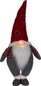 Holiday Gnome With Light Up Nose - Red Hat