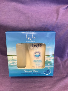Inis Traveler Duo {Cologne Spray & Body Lotion}