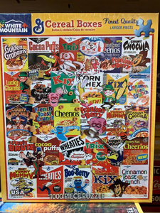 General Mills Cereal Box Puzzle