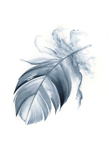 Indigo Feather #2 - 6 x 8""