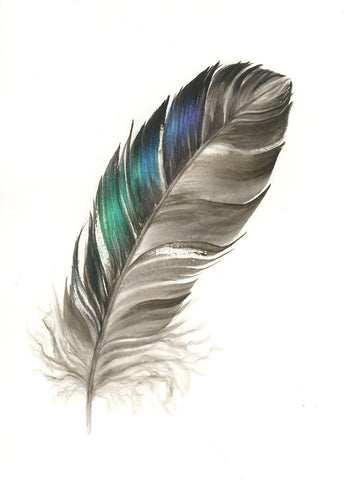 Duck Feather #2 - 6 x 8""