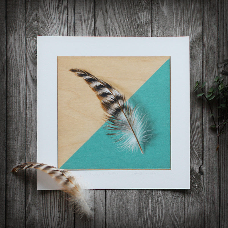 Teal-Masked: Feather - Limited Edition Print