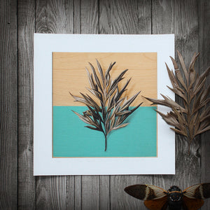 Teal-Masked: Silky Oak Leaf - Limited Edition Print