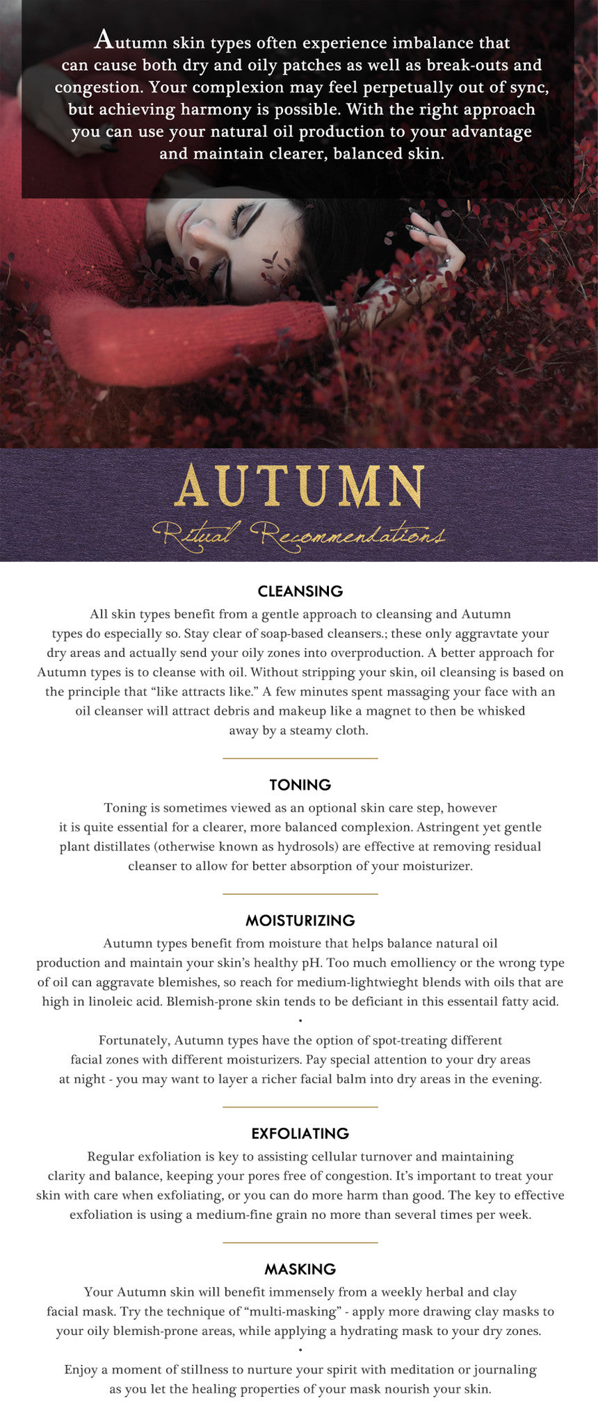 autumn typology skin care report