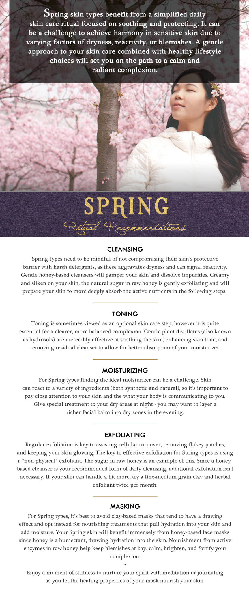 spring typology skin care report