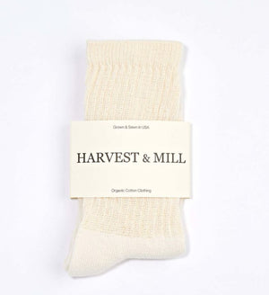 Harvest and Mill - Organic Cotton Crew Socks