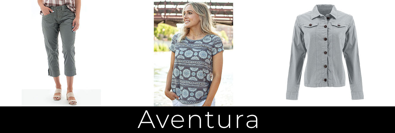 Aventura clothing line available at Patryka Designs in Mill Bay BC