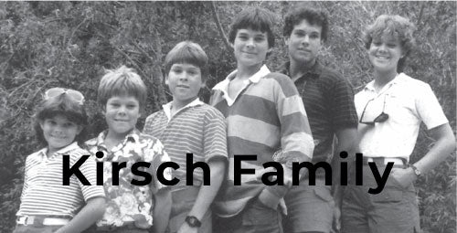 Kirsch Family who owns Aventura Clothing company which is available at Patryka Designs