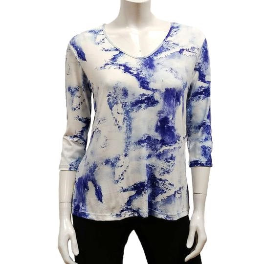 Gilmour Rayon V Neck 3/4 Sleeve Top