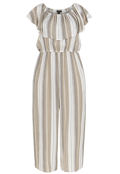 Tribal Ruffle Collar Jumpsuit