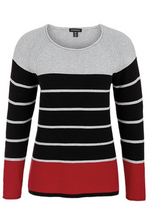 Load image into Gallery viewer, Tribal Textured Stripe Sweater - Style 39590