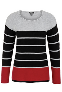 Tribal Textured Stripe Sweater - Style 39590