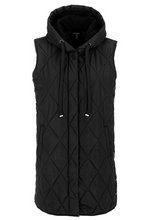 Load image into Gallery viewer, Tribal Hooded Long Puffer Vest - Style 43050