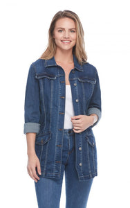 FDJ Long Denim Jean Jacket - Style 1825669