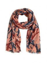 Load image into Gallery viewer, Nice Things Coral Sprint Scarf - Style WFK010