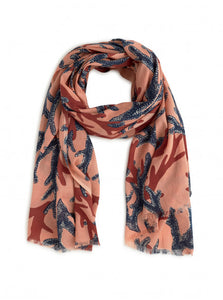 Nice Things Coral Sprint Scarf - Style WFK010