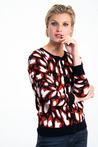 Garcia Cardigan Abstract Print - Style G90051