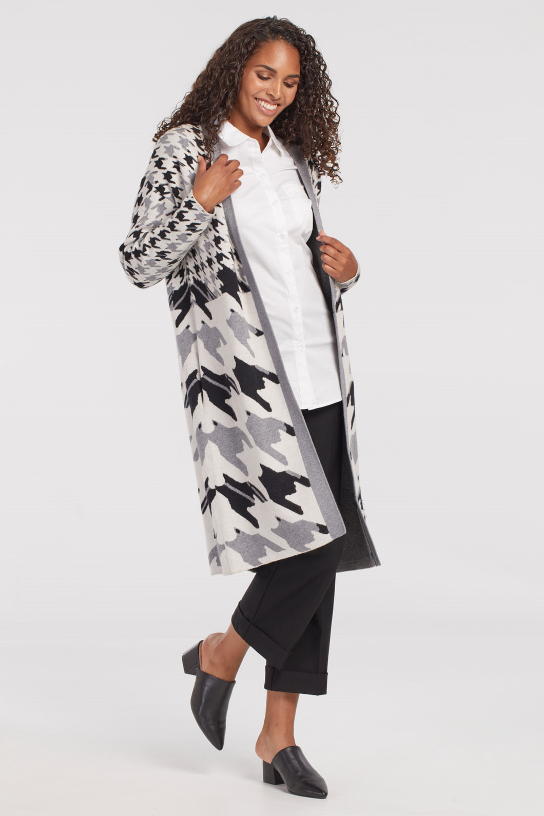 Tribal Houndstooth Cardigan - Style 43420