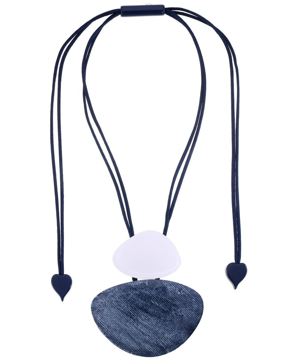 Zsiska  Chambray Oval Necklace - Style 1340201LWHIQ00
