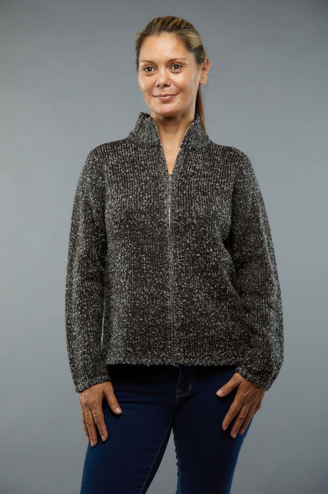 Winding River Cardigan Zipper - Style KN248DF3C