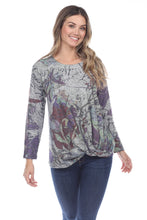 Load image into Gallery viewer, Inoah Byzantium Long Sleeve Top - Style T599BG