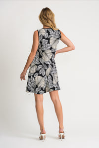 Joseph Ribkoff Leaf Print Dress