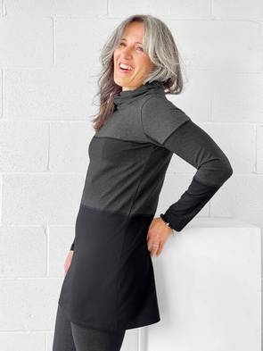 Miik Colour Block Twisted Cowl Tunic -  Style HASHA