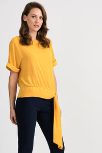 Joseph Ribkoff Short Sleeve Side Tie Top