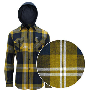 Point Zero Men's Flannel Hooded Shirt - Style 7354599