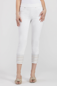 Tribal Ankle Jegging with Embroidered Detail