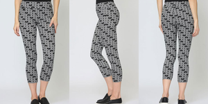 "Lisette Heart Print 25""  Thinny Crop Pant - Style 60602"