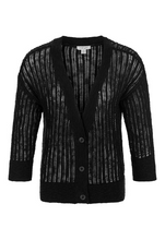 Load image into Gallery viewer, Tribal 3/4 Sleeve 3 Button Cardigan