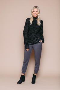 Orb Ava Mock Neck Sweater - Style 031214