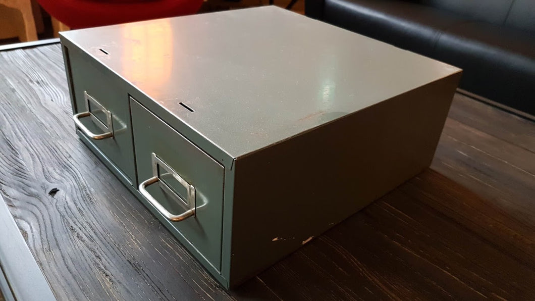 Vintage Green Army File Cabinet - Industrial furniture clearance - HT Interiors Furniture Store Vancouver