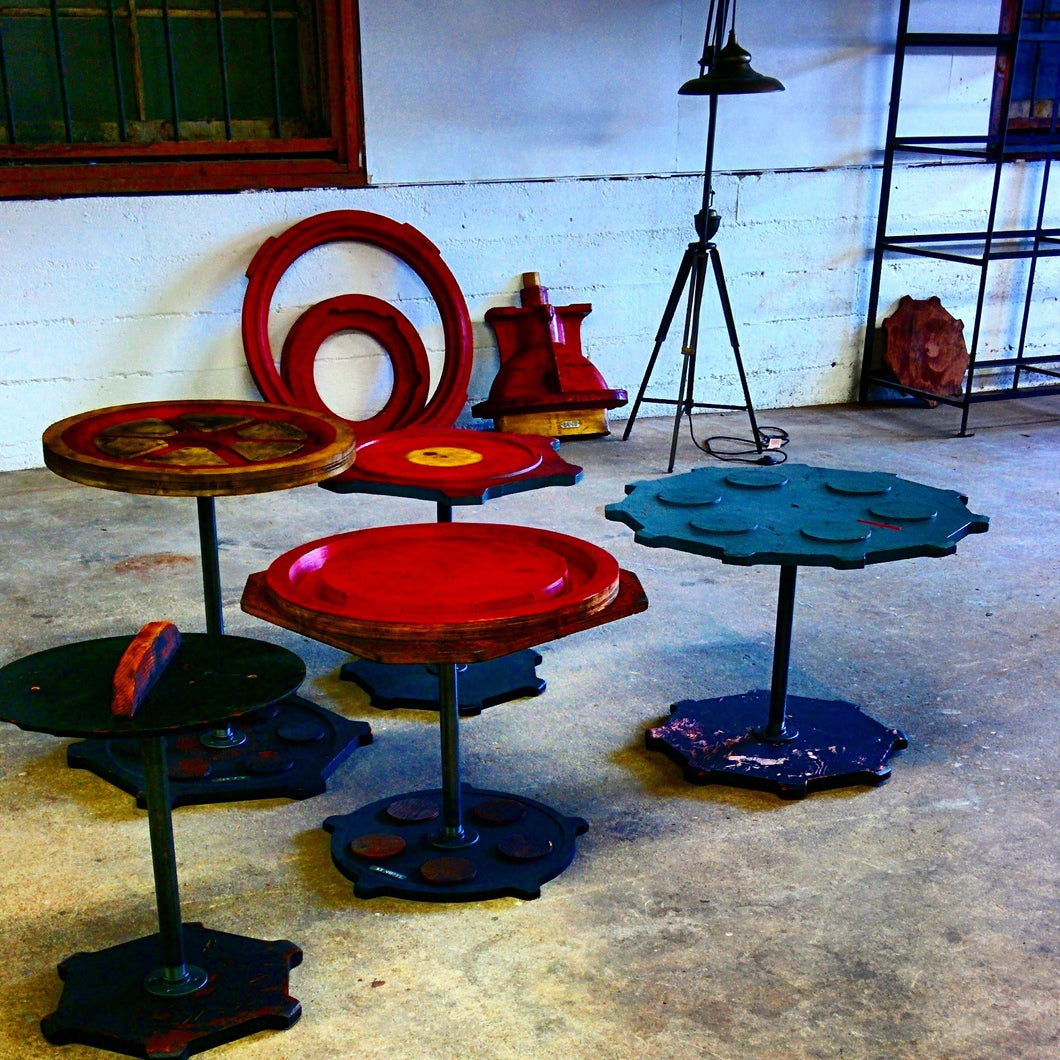 Pattern Made Industrial Tables - Industrial furniture clearance - HT Interiors Furniture Store Vancouver