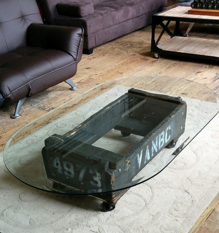 Original Industrial Coffee Table - Industrial furniture clearance - HT Interiors Furniture Store Vancouver