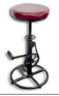 Metal Bicycle Stool Adjustable - Industrial furniture clearance - HT Interiors Furniture Store Vancouver