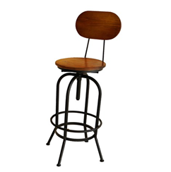 Merv Stool With Backrest - Industrial furniture clearance - HT Interiors Furniture Store Vancouver